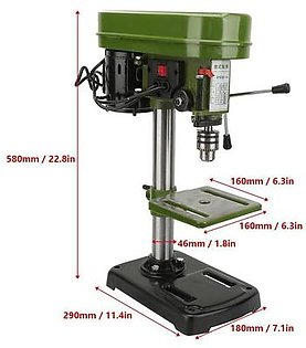 Miniature Electric Bench Drill Press Workshop Mounted 350W 5 Speed 50mm Drilling Depth Bench Drill, Drill Press, Bench Drill Press, Drill Machine, Wor