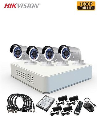 Hikvision 4 CCTV Cameras Package - 1080P - 2MP