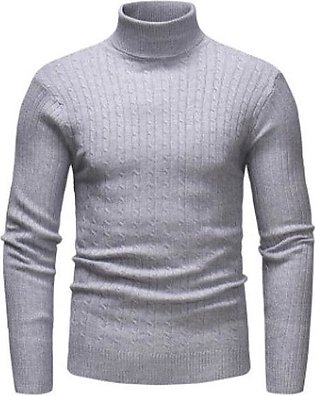 Men Thermal High Collar Turtle Neck Sweater Stretch Pullover Shirts
