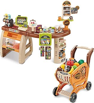 Children Grocery Store Playset, Role Play Toy Supermarket Shopping Set Simulati…
