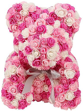 40cm Bear of Roses Colors Artificial Flowers Home Wedding Festival DIY Cheap ...