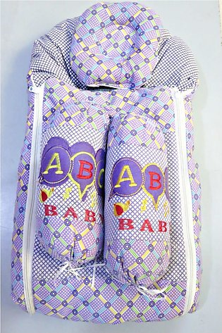 Baby sleeping Bag With Head Pillow And 2 Support Pillow