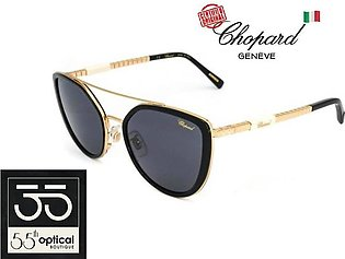 Chopard Sunglasses SCHC23 300F Inlay Titanium Acetate 23K Gold Black/White Wome…