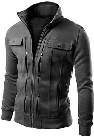 Cocotina Man'S Motorcycle Style Stand Collar Jacket