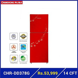 Changhong Ruba CHR-DD378G Glass Door top Mounted Refrigerator
