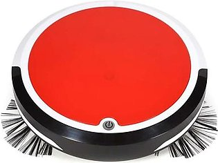 Home 4 in 1 Rechargeable Auto Cleaning Robot Smart Sweeping Robot Dirt Dust Hair Automatic Cleaner for Electric Vacuum Cleaners Red-Eu Plug