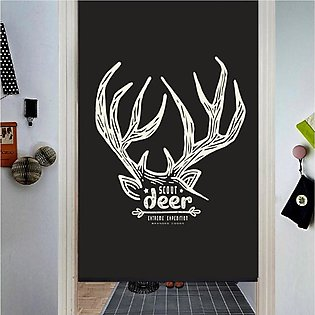 Polyester Deer Curtains Home Living Bedroom Window Drapes Decor 130x60cm US