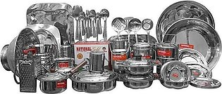 Marriage Set 87 Pieces Stainless Steel Dinner Set heavy weight