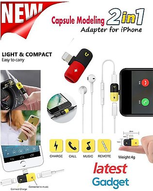 Audio Dual Adaptor Splitter for iPhone X, 10, 8, 7 Plus for Lighting Jack to ...