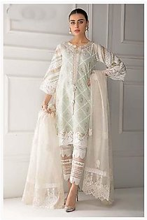 Stylish Organza Embroidered Dress For Women