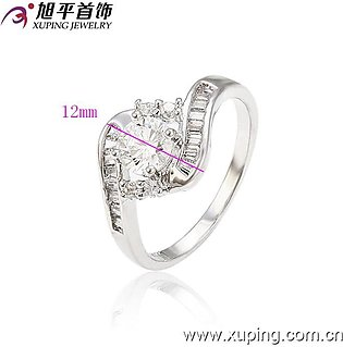 100 Degreez's Silver, Alloy Rhodium Plated, Ring for Women