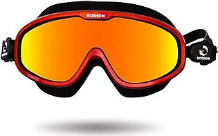 Goglor Adult Swim Goggle Large Frame Adjustable Swimming Goggles with UV Protection Leak-proof and Anti-fog