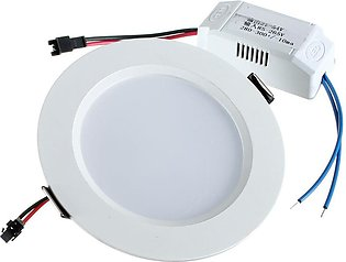 9W Round LED Recessed Ceiling Down Light Panel Fixture Bulb Downlight Pure White
