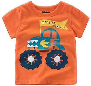 Summer Infant Baby Kids Boys Girls T Shirts Cartoon Print Tops Outfits Clothes