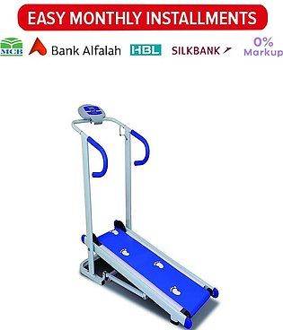 Manual Treadmill 901 - White and Blue
