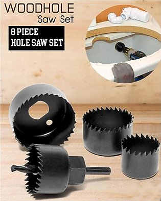 Professional Hole Saw Kit for Wood with 8 Pcs Cutters