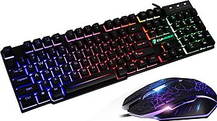 Gaming Mouse Gaming Keyboard Combo RGB LED Backlit Keyboard and Mouse Gaming Mo…