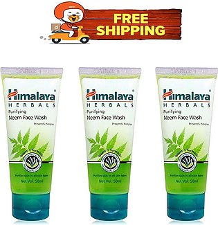 Pack Of 3 - Himalaya Herbals Neem Face Wash - 50 Ml - Free Delivery