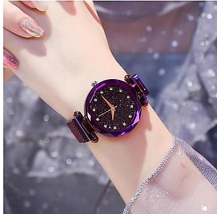 Purple Ladies magnetic Watches Korean Fashion 2019 Model
