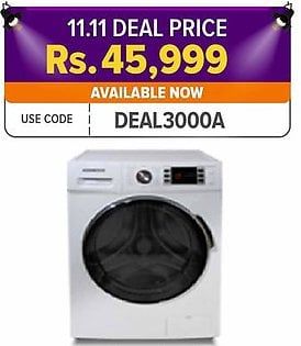 Kenwood 6 KG - Front Loading Fully Automatic Washing Machine - KWM-6001FAF W - White