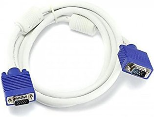 VGA to VGA Cable For Computer - White
