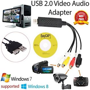 USB TV Tuner Easycap USB 2.0 Adapter Cable Audio Capture Devices USB Video Ad...