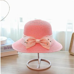 Hats For Women Ladies Hat Straw Hat Summer Lady Small Fresh Butterfly Knot Stra…