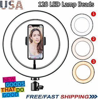 2020 LED Ring Light 16CM 20CM 26CM 3 Color Styles For Makeup Video Live Studio-…