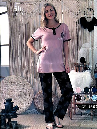 Imported Trouser Shirt for Women Comfortable Night Dress for Brides Nightwear...