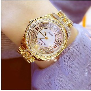 BS Luxury Women Watches Ladies Diamond Quartz Watch Women's Bracelet Female Alloy Wristwatch