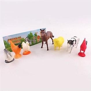 6PCS Baby Toys Animal Cook Toy Kids Cow Chicken Horse Toy Model Gift Baby