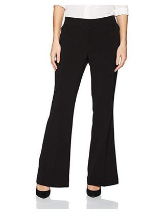 Office Lady Elastic Bell Bottom pants(Polyster+Cotton+Elastane)