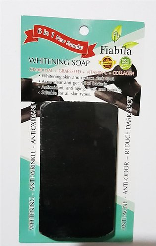 Whitening Soap  (Charcoal + Grapeseed + Vitamin C + Collagen)  - 80g