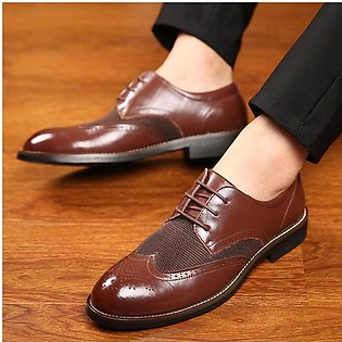 Men's shoes business dress shoes men's leather Europe and America casual Bull...