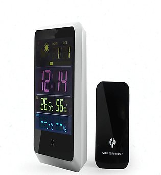 Digital Weather Station Meter Wireless Thermometer Sensor Humidity LED Screen -