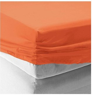 Bed Fitted / Mattress Protector - Orange