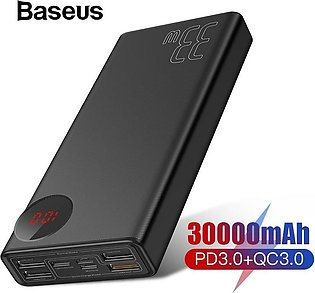 Baseus 30000mAh Power Bank - PD3.0 Quick Charger For iPhone Xs Max Xr X 8 Plus …