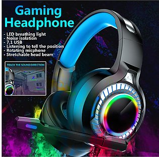 3.5mm 7.1USB Wired Stereo Game Headset Colorful LED Gaming Headphone 50mm Driver