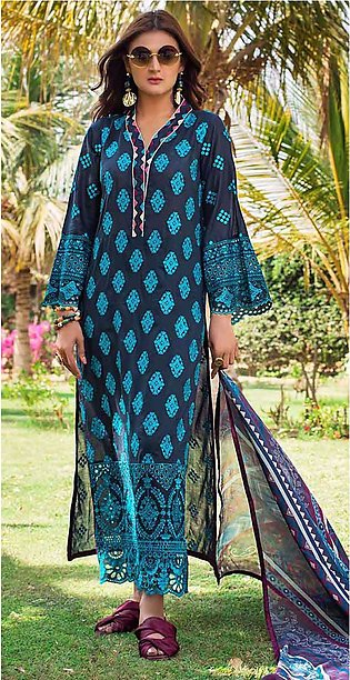 Lawn Embroidered Suit For Women - Unstitched