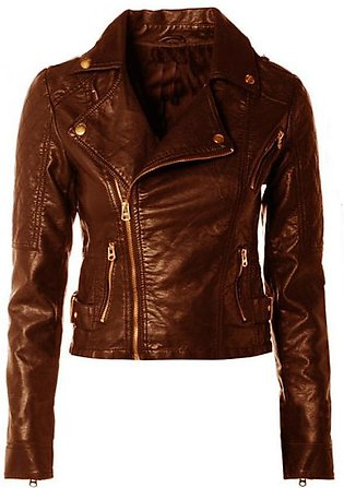 Mustard Ladies Leather Jacket For Women