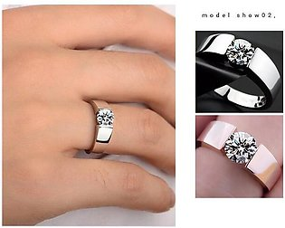 Makeup Gallery Fashion Rose Gold Ring Silver-Plated Silver Couple Rings