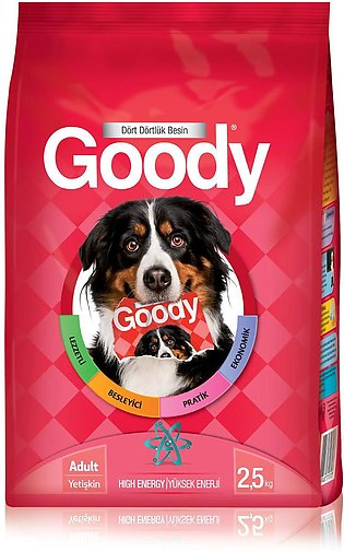 Goody Dog Dry Food - High Energy (Made In Turkey) - 2.5 Kg or 15 Kg