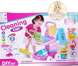 Mini Cleaning Car Toy With Vaccume Machine