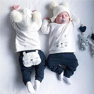 Baby Boy Girl Clothes T-shirt Tops+Pants Outfits Set