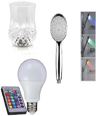 Pack of 3 - LED Bulb With Remote