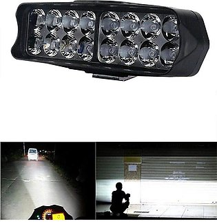 16 LED Fog Light Waterproof Head Lamp for Bikes Cars and Motorcycle