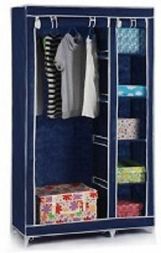 Collapsible Cloth Wardrobe (Blue)