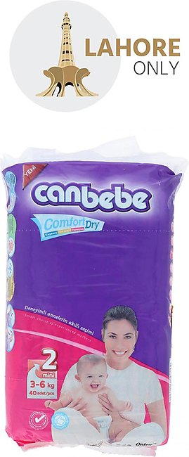 Canbebe Diapers 2 mini (3 to 6 kg) 40Pcs