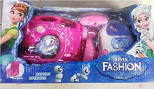 Battery Operated Home Appliance Set, Sewing And Washing Machine For Kids Fun An…