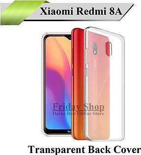 Xiaomi Redmi 8A Back Cover Transparent Crystal Clear Back Case Jelly Cover For Mi 8A